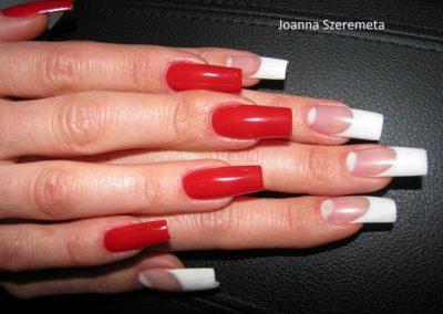 stylizacja paznokci pinkwhite